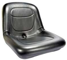 "16500-HIGH BACK SEAT BLACK 15"""