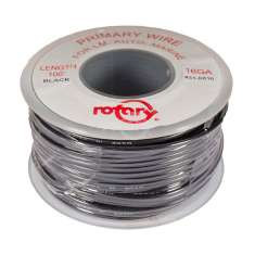 6816-PRIMARY WIRE BLACK 16 AWG 100'